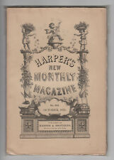 Lot of 10 19th Century Magazines HARPER'S MONTHLY + FORUM from 1870s-90s