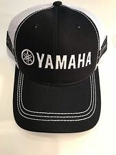 New Genuine Yamaha Striped Trucker Hat in Black with Mesh Back