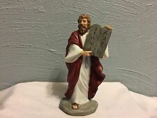Homco # 1464 Religious Biblical Painted Moses Ten Commandments Tablet Figurine