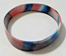 Red, White & Blue Rubber Bracelet