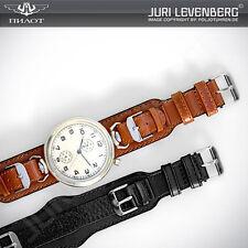 Lederband Armband Uhrenband Fliegeruhren B-Uhr Luftwaffe Retro Bund strap 16-18
