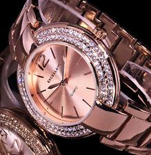 Excellanc Uhr Damenuhr Armbanduhr Rose Gold Farben Metall Strass 20-2