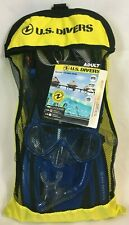 US Divers Adult Travel Ready Pakala Mask, Aloha Snorkel, and Fins - SMALL/MED.
