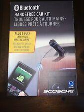 Scosche Bluetooth Handsfree Audio Aux Car Kit Plug and Play