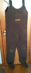 Cabela's Classic Brown Neoprene Stocking-Foot Waders Size Large