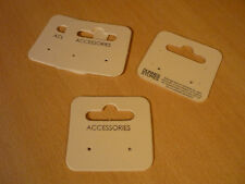 4 kartonnen oorbel kaartjes houders DIY  5 x 5,3 cm