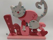 Children's Wooden Hugs / Cat Pink Sign Decoration Baby Room