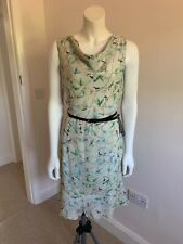 BNWT Light Green Leaf Patterned Dress by The Limited in UK 14/16