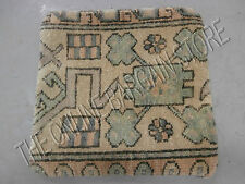 Pottery Barn Vintage Hand Knotted Sofa Chair Throw Pillow COVER Wool Woven 18""