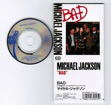 "MICHAEL JACKSON Bad (7"" Single Mix) JAPAN 3"" CD 10.8P-3002 1988 issue Unsnapped"