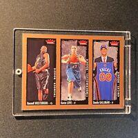 RUSSEL WESTBROOK / KEVIN LOVE / DANILO GALLINARI 200 FLEER TRIO ROOKIE RC NBA