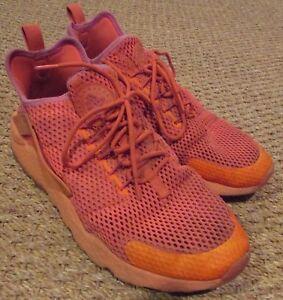 Nike Air Huarache Run Ultra Shoes 833292-800 Crimson Orange Sz 12