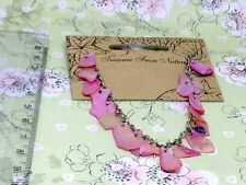 'Inspired by Nature' Pink shell bracelet