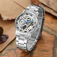 WINNER Skeleton Stainless Steel Strap Automatic Mechanical Mens Man Luxury Watch