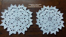 NAPPERONS CROCHET d'ART CREATION SYLVETTE RAISONNIER ARTISANAT FRANCAIS 15CM*