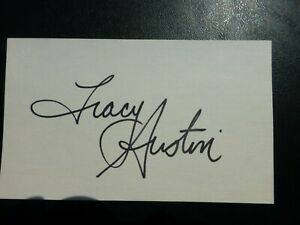 Tracy Austin Signed Index Card with COA