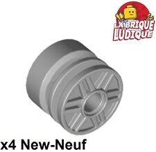 Lego - 4x roue jante wheel 18mm D. x 14mm Pin Hole gris/light b. gray 55981 NEUF