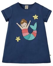 Frugi Sophie Applique T-shirt Marine Blue Mermaid 4-5 Years BNWT