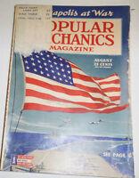 Popular Mechanics Magazine Annapolis At War August 1943 091314R