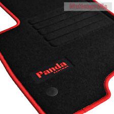 Alfombrillas profesionales gamuza logotipo tapices para fiat panda tipo 319 a partir de año 2016 rojo