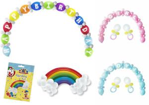 Birthday Balloon Arch Garland Kit Baby Shower Pink Blue Birth Party Decor