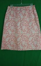 Brooks Brothers 346 multicolor cotton blend knee length A-line skirt size 4