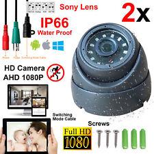 2x New Sony 1080P HD 2.4MP CCTV Dome Camera AHD CVI IP66 3.6mm 20M IR LED LENS