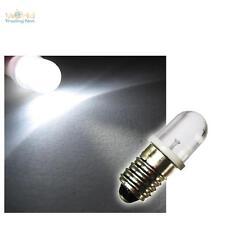 10 E10 LED-Lampen Schraubsockel WEISS 12V LEDs BIRNE Leuchtmittel E-10 12 Volt