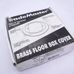 Pass and Seymour Legrand TM1542-TRCF Brass Floor Box Cover