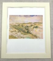 Silkscreen Print Signed Jerusalem Landscape Contemporary Israeli Art  Judaica