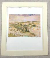 Siebdruck Aufdruck Unterzeichnet Jerusalem Landschaft Moderne Israelische Kunst