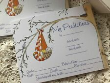 10 BABY SHOWER PREDICTION CARDS - WISHES AND ADVICE - FORECAST BOY GIRL UNISEX