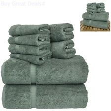 Linen 8-Piece Turkish Cotton Towel Set With 2 Bath, Towel 2, Hand 4 Warmer Beach