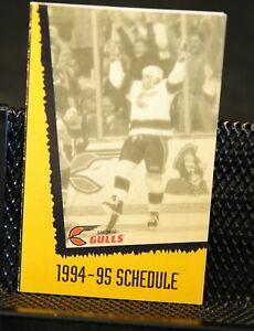 1994-95 San Diego Gulls Hockey Pocket Schedule
