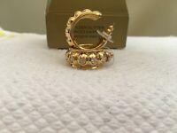 Vintage 1997 Avon Golden Glitter Pierced Earrings