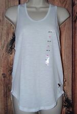 Victorias Secret PINK Tank Top Extra Small Dog Twisted Back NWT Shirt White