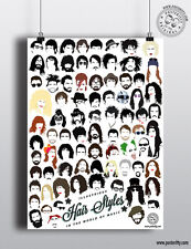 ICONIC MUSICIANS Minimalist Hair Poster Minimal Print by Posteritty Music Heads