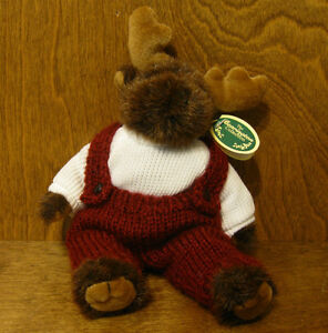 """Bearington Plush #1492 MILO, 9"""" Tall jointed From Retail Store, NEW/tags MOOSE"""