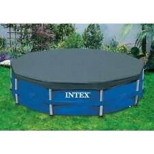 Intex 15 Ft Round Pool Cover for Metal Frame Pools (28032E)