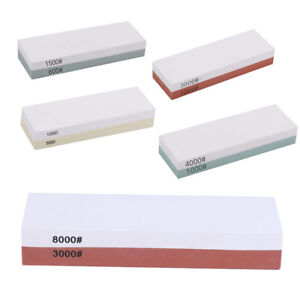 2 Side Grit Knife Sharpening Stone Sharp Pebble Premium Whetstone