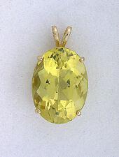 14Kt Oval 18x13 AAA Brazilian Citrine  Gem Gemstone Pure 14Kt Gold Pendant EBS37
