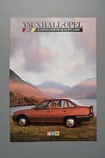 Car Brochure, Vauxhall Range 1986, Nova Astra-Belmont Cavalier Mk2, Manta etc