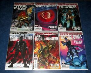 STAR WARS WAR of the BOUNTY HUNTERS prelude set (6) #1 #1 DC ALPHA complete pre