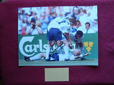 "ENGLAND PAUL GASCOIGNE ""GAZZA"" *THE DENTISTS CHAIR* SIGNED 16""x12"" PHOTO - PROOF"