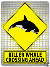 KILLER WHALE METAL Street sign funny educational retro kids room wall decor 120
