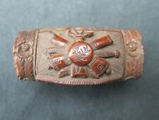 19th Century carved Napoleonic coroso nut box, prisoners of war