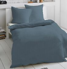 4 tlg Dormisette Mako-Satin Bettwäsche 135x200 cm blautöne Streifen #5520//050