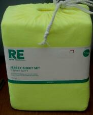 Room Essentials Jersey Sheet Set - Extra Long Twin - Neon Yellow - BRAND NEW