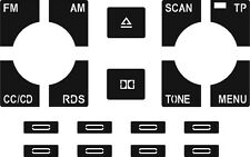 Set of Stickers to repair the buttons on your Audi A2/A3/A4/A6 Chorus Cassette