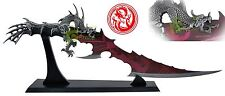 """24"""" Red Blade Fantasy Fire Dragon sword Dagger with Display Stand Brand New"""